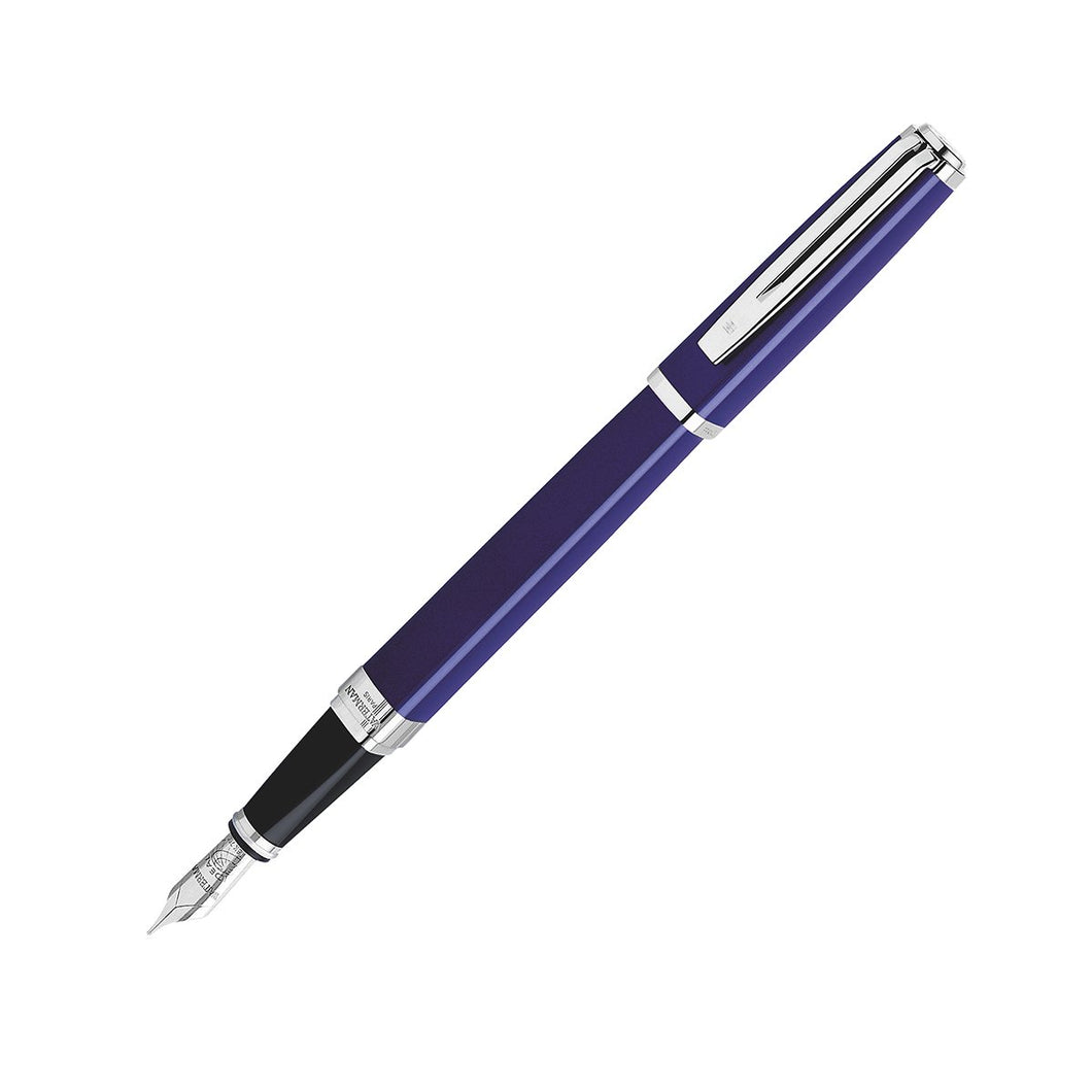 Waterman Exception Fountain Pen Slim Blue Lacquer ST Medium Point