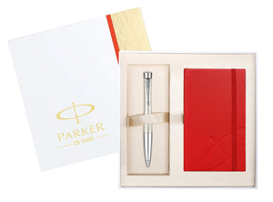 Parker Urban Premium Pearl Ballpoint Pen and Notebook Gift Set