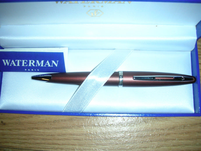 Waterman Carene Leather Brown Ballpoint Pen - 80786