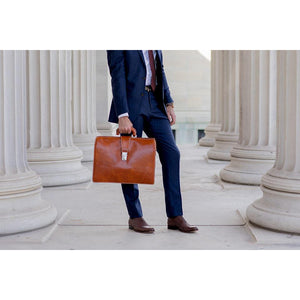 Leather Briefcase Floto Ciabatta