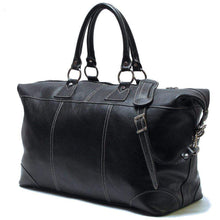 Load image into Gallery viewer, Floto Capri Italian Leather Duffle Travel Bag Suitcase black