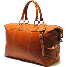 Load image into Gallery viewer, Floto Capri Italian Leather Duffle Travel Bag Suitcase olive brown
