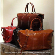 Load image into Gallery viewer, Capri Leather Duffle Bag