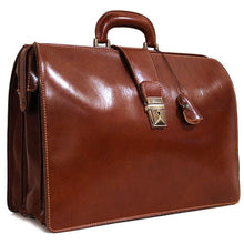 Load image into Gallery viewer, leather briefcase attache floto ciabatta