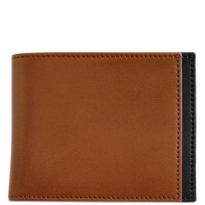 Italian Lambskin Nappa Leather ID Wallet Floto Firenze brown