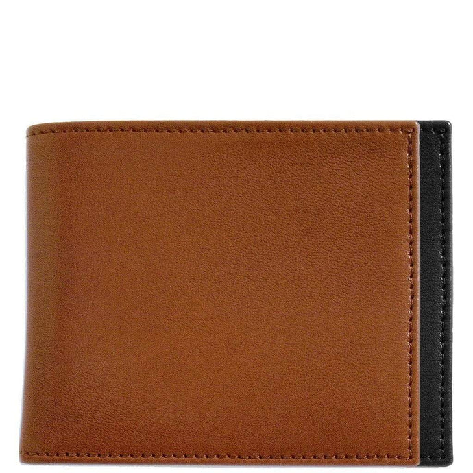 Floto Firenze Italian Nappa Leather Double Billfold ID Wallet in Tan