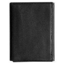 Load image into Gallery viewer, leather tri-fold id wallet floto black