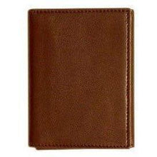 Load image into Gallery viewer, leather tri-fold id wallet floto brown