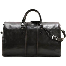 Load image into Gallery viewer, Floto Venezia Leather Garment Duffle - Black