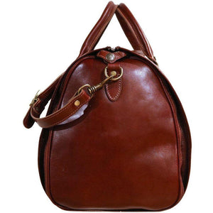 Floto Venezia Leather Garment Duffle - Side Face with Strap