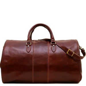 Floto Venezia Leather Garment Duffle - Vecchio Brown