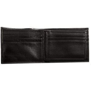 leather billfold wallet floto black
