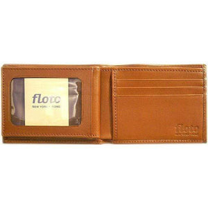 leather billfold wallet floto brown