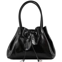 Load image into Gallery viewer, Floto Italian Leather Women's Handbag Shoulder Bag Sorrento black