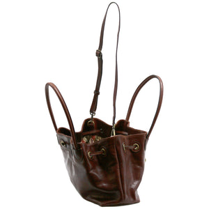 Floto Italian Leather Women's Handbag Shoulder Bag Sorrento 10