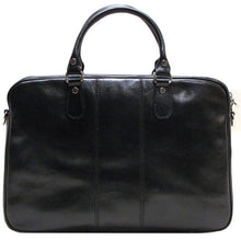 Load image into Gallery viewer, Floto Venezia Slim Leather Brief Made in Italy - Black
