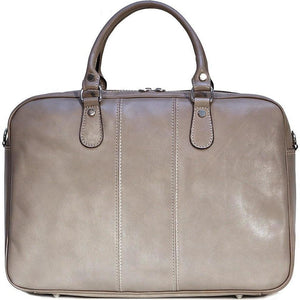 Floto Venezia Slim Leather Brief Made in Italy - Grey