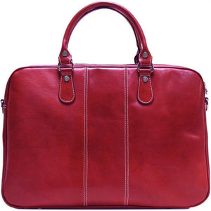 Floto Venezia Slim Leather Brief Made in Italy - Tuscan Red