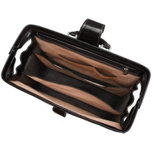 Load image into Gallery viewer, Floto Ciabatta Italian Leather Men's Doctor Briefcase Attache Case Black - Inside View