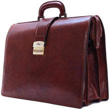 Load image into Gallery viewer, Floto Ciabatta Italian Leather Briefcase Attache with Combination Lock
