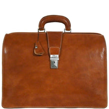 Load image into Gallery viewer, Floto Ciabatta Italian Leather Men's Doctor Briefcase Attache Case in Olive Brown