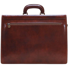 Load image into Gallery viewer, Floto Murano Italian Leather Briefcase Attache with Combination Lock