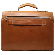 Load image into Gallery viewer, Floto Italian Leather Briefcase Parma Edition Attache Messenger Bag men's 3