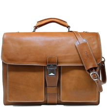 Load image into Gallery viewer, Floto Italian Leather Briefcase Parma Edition Attache Messenger Bag men's 1