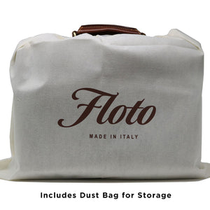 Floto Parma Italian Leather Briefcase Messenger Bag Crossbody - Dust Bag