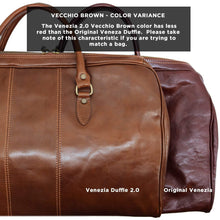 Load image into Gallery viewer, Venezia Leather Travel Duffle Bag 2.0