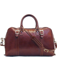 Load image into Gallery viewer, Floto Trastevere Italian Leather Duffle Bag Carryon Suitcase Weekender