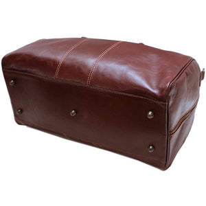 Leather Duffle Bag Floto Venezia bottom
