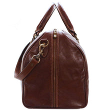 Load image into Gallery viewer, Leather Duffle Bag Floto Venezia end