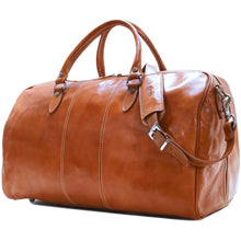 Load image into Gallery viewer, Floto Italian Leather Venezia Duffle Travel Bag Luggage olive honey brown