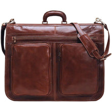 Load image into Gallery viewer, Floto Italian leather garment bag suitcase luggage brown