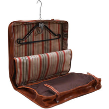 Load image into Gallery viewer, leather garment bag floto venezia olive honey brown inside