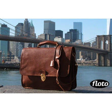 Load image into Gallery viewer, Floto Italian Leather Briefcase Messenger Bag Crossbody - New York City