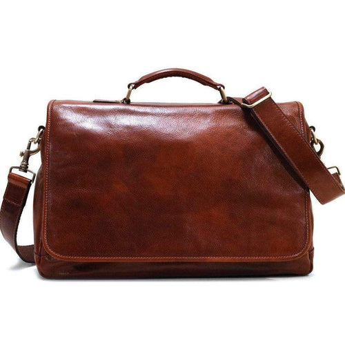 Floto Centro Leather Messenger Bag