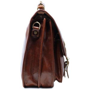 Floto Poste Leather Messenger