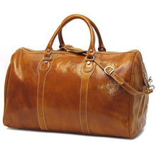 Load image into Gallery viewer, Floto Milano Leather Duffle Travel Bag Weekender Carryon - Olive (Honey) Brown