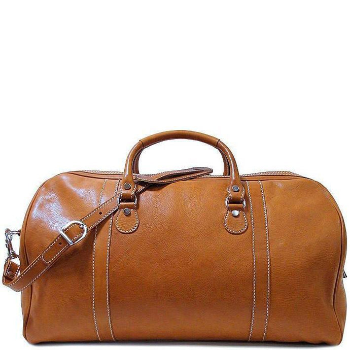 Floto Parma Italian Leather Duffle Travel Bag Carryon Suitcase Luggage