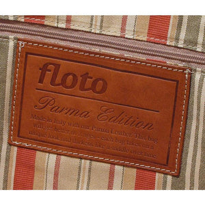 Floto Parma Italian Leather Duffle Travel Bag Carryon Suitcase Luggage - Logo
