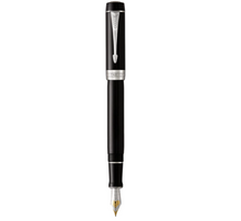 Load image into Gallery viewer, PARKER Duofold Centennial Fountain Pen Classic Black with Palladium Trim