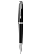 Load image into Gallery viewer, PARKER Premier Ballpoint Pen Deep Black Lacquer with Chrome Trim