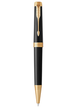 Load image into Gallery viewer, PARKER Premier Ballpoint Pen, Deep Black Lacquer with Gold Trim