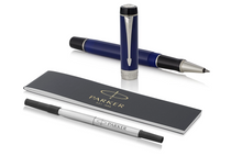 Load image into Gallery viewer, PARKER Duofold Rollerball Pen, Classic Blue & Black