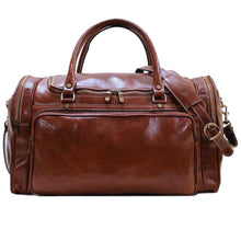 Load image into Gallery viewer, Floto Torino Leather Duffle Travel Bag Carryon Vecchio Brown - PensAndLeather