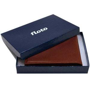Floto Firenze Italian Nappa Leather Tri-Fold Wallet - Gift Box