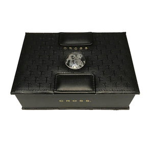 Cross Sauvage Special Edition Year of the Goat Black Lacquer 23KT Gold Fountain Pen Medium Nib - Presentation Box Top View