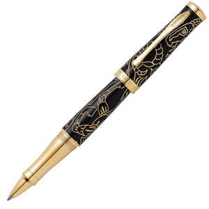 Cross Sauvage Special Edition Year of the Goat Black Lacquer 23KT Gold Rollerball Pen